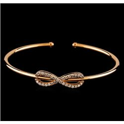0.45 ctw Diamond Bracelet - 14KT Rose Gold