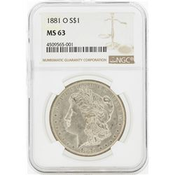 1881-O MS63 NGC Morgan Silver Dollar