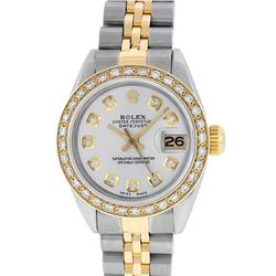 Rolex Two-Tone Diamond DateJust Ladies Watch