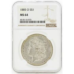 1885-O MS64 NGC Morgan Silver Dollar