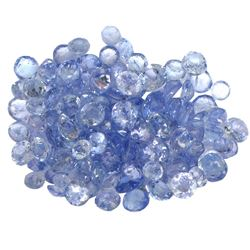 14.97 ctw Round Mixed Tanzanite Parcel