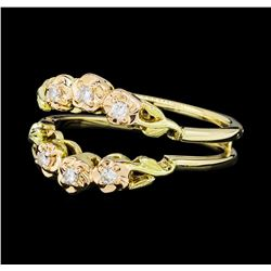 0.10 ctw Diamond Ring - 14KT Yellow and Rose Gold