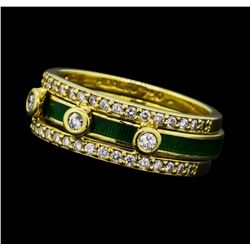0.53 ctw Diamond Band With Insert - 18KT Yellow Gold