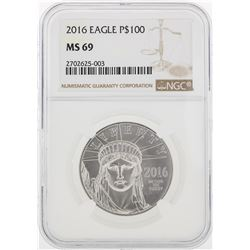 2016 NGC MS69 $100 Eagle Platinum Coin