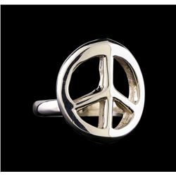 Classic Sterling Silver Peace Ring