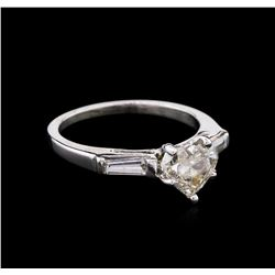 1.03 ctw Heart Diamond Ring - Platinum