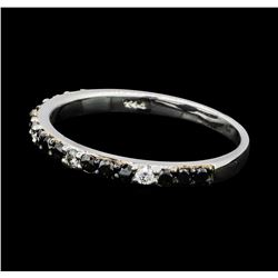 0.38 ctw Black and White Diamond Ring - 14KT White Gold