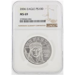 2006 NGC MS69 $100 Eagle Platinum Coin