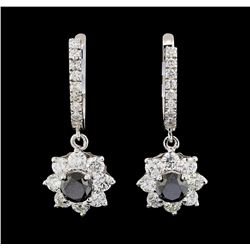 4.29 ctw Diamond Earrings - 14KT White Gold