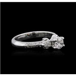 18KT White Gold 0.84 ctw Diamond Ring