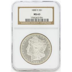 1880-S MS63 NGC Morgan Silver Dollar