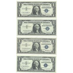 1957 $1 AU/Unc Silver Certificate Currency Lot of 4