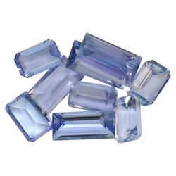 6.52 ctw Rectangular Step Mixed Tanzanite Parcel