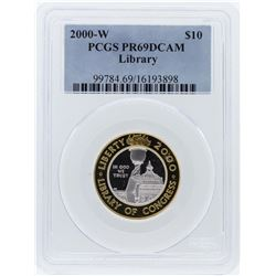 2000-W PCGS PR69DCAM $10 Library of Congress Bicentennial Commemorative Coin