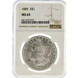 1885 NGC MS63 Morgan Silver Dollar