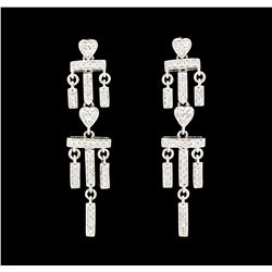 0.50 ctw Diamond Earrings - 18KT White Gold