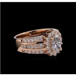 2.12 ctw Diamond Ring - 14KT Rose Gold
