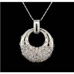 14KT White Gold 2.04 ctw Diamond Pendant With Chain