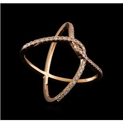 0.36 ctw Diamond Ring - 14KT Rose Gold