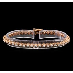 14KT Rose Gold 2.57 ctw Diamond Tennis Bracelet