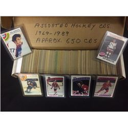 1969-1989 ASSORTED HOCKEY CARDS (APPROX 650 CARDS)
