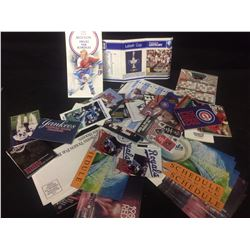 SPORT FAN SOUVENIR LOT (VARIOUS MAJOR SPORTS TEAMS SEASON SCHEDULES)