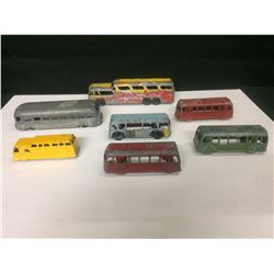 VINTAGE LONDON TOY METAL BUS LOT