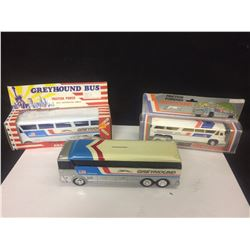 VINTAGE TOY GREYHOUND BUS LOT