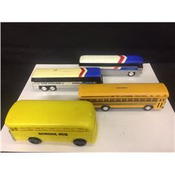 GREYHOUND AMERICRUISER VINTAGE TOY BUSSES & VINTAGE TOY SCHOOL BUS LOT