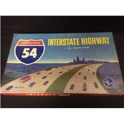 VINTAGE 1963 INTERSTATE HIGHWAY 54 BOARD GAME BY SELRIGHT