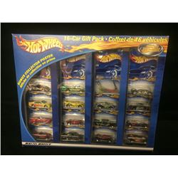 HOT WHEELS 16 CAR GIFT PACK W/ EXCLUSIVELY DECORATED CAR