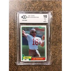 "1981 JOE MONTANA TOPPS #216 49ERS ""ROOKIE""  FOOTBALL CARD (10 MINT OR BETTER)"