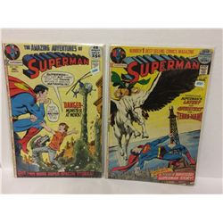 SUPERMAN #246 Monster Super Special Stories 1971 & SUPERMAN #249 52 Pages Classic DC Bronze Age