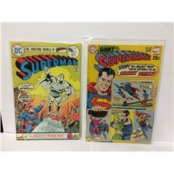 Superman #286 High Grade Bronze Age DC Comic (1975) & SUPERMAN #222 (VF-) 80-Page Giant! High Grade!
