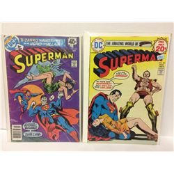 Superman #333 March 1979 DC Comic Book & 1974 Superman #281 1st App of Vartox