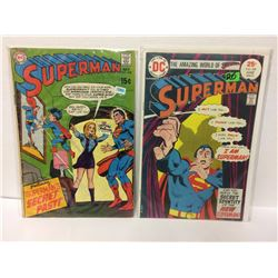 DC SUPERMAN #218 1969  Vintage Comic & Superman #288 Secret Identity of New Superman 1975 DC Comics