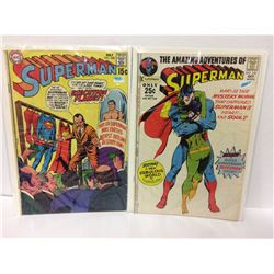 SUPERMAN #228 THE MYSTERY BOMBERS & Out of the Vault – Superman #243 (DC COMICS)