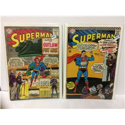 Superman #179 - The Outlaw of Fort Knox! - 1965 & Superman #185 (Apr 1966, DC)