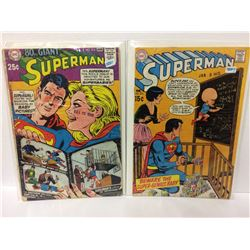 Superman #212 (Dec 1968, DC) & Superman Vol 1 #224