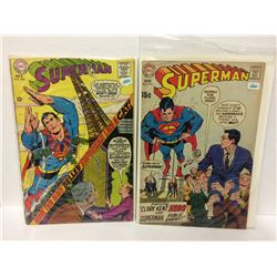 DC SUPERMAN #208 1968 Vintage Comic & Superman #219 (Aug 1969, DC)