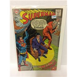 SUPERMAN #211  Clark Kent Trapped! High Grade Issue! 1968 Vintage DC COMIC
