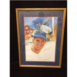 Ted Williams Autographed Decathlon Sports Prints Series Lithograph  (FRAMED)
