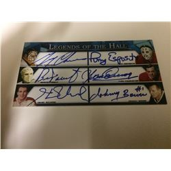 2005-Present BOSSA Autographs  -  (Cheevers, Esposito,  Parent, Cournoyer,  Richard,  Bower)