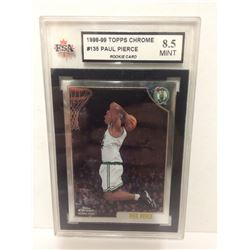1998-99 PAUL PIERCE #135 TOPPS CHROME BASKETBALL CARD (8.5 MINT) KSA