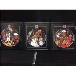 ORIGINAL 1OF 1 SIGNED MICHEAL JORDAN FRAMED PAINTINGS (3)