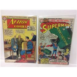 Action Comics #301 (1963 DC Comics) Superman & Supergirl appearance & 1966 DC Comics SUPERMAN #182