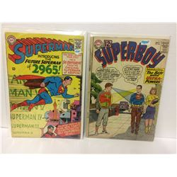 SUPERMAN #181 & SUPERBOY #98 DC COMIC BOOK LOT