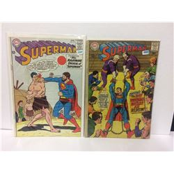 VINTAGE SUPERMAN DC COMIC BOOK LOT (#171, 206)