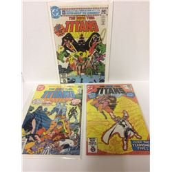 1980 THE NEW TEEN TITANS DC COMIC BOOK LOT (#1, 2, 3)