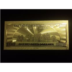$100 GOLD BANKNOTE USA PURE 24K GOLD LEAF HUNDRED DOLLAR BILL